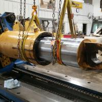 "8"" by 28"" Large pipe bending cylinder"